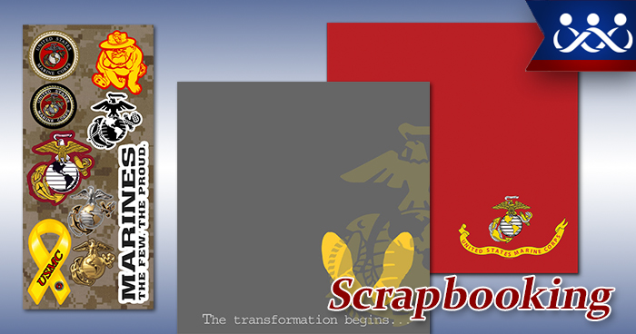 Marine Corps Scrapbooking Supplies