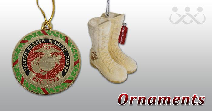 Ornaments: USMC. Marine Corps themed holiday ... - Marine Corps Christmas Ornaments And Stockings