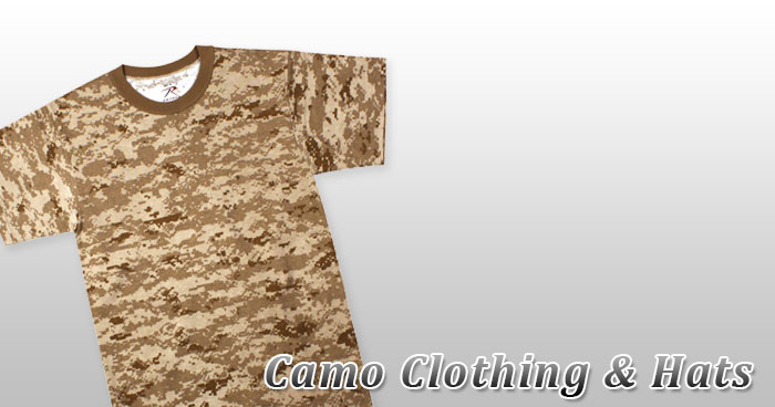 Camo Clothing & Hats