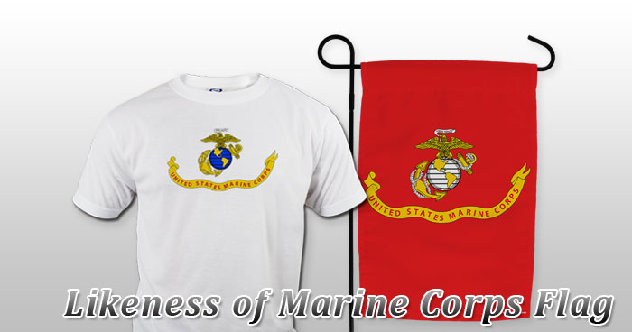 Likeness of Marine Corps Flag