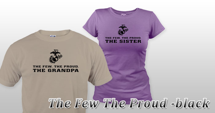 The Few The Proud -black