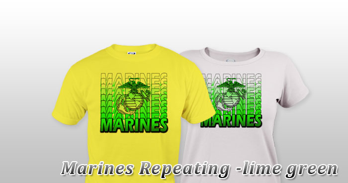 Marines Repeating -lime green