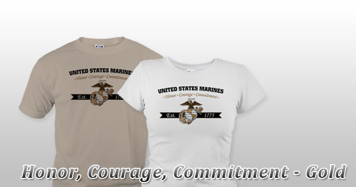 Honor, Courage, Commitment - Gold