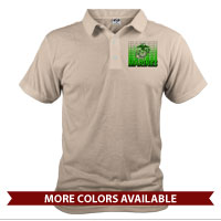 _Polo (Unisex): Marines Repeating -lime green