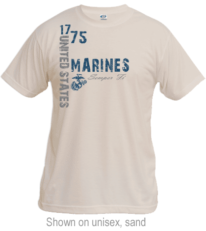 Product Image Gallery: _T-Shirt (Unisex):1775 US Marines. Click thumbnail to ...