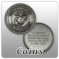 Marine Coins and Military Challenge Coins