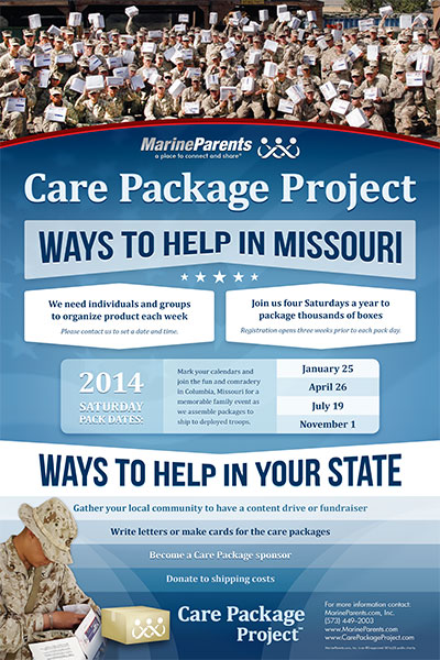 Poster: Care Package Project 2014 Packing Dates