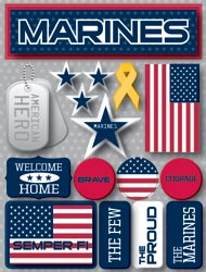 Stickers, Marine Signature Dimensional Stickers