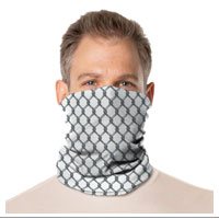 Gaiter Face Mask: Black and White