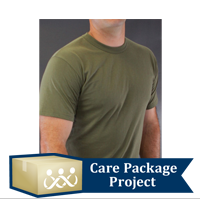 Care Package Project Content: Olive Drab T-shirts (Pkg of 3)