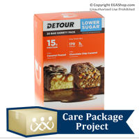 Care Package Project Content: Detour Protein Bars (Box of 20)