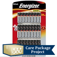 Care Package Project Content: Energizer Batteries (Pkg of 40)