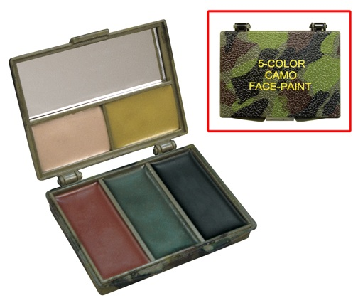 Compact: Five Color Woodland Camo Face Paint