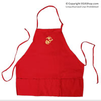 Apron: Eagle Globe and Anchor Embroidery