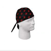 Headwrap: Black with Red EGA