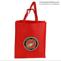 Bag, Shopping: Red with USMC Seal