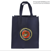 Bag, Shopping: Blue with USMC Seal