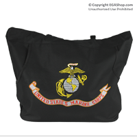 Totebag: Emboidered EGA-Flag-Likeness on Black