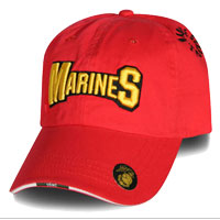 Cap: Marines with EGA and Semper Fi