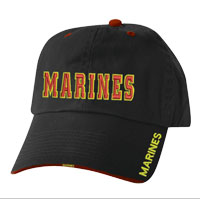 Cap: Marines in Red and Yellow on Black