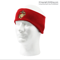Ear Warmer, Fleece: EGA (embroidered on red)