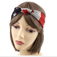 Headwrap: Vintage Stars and Stripes with Knot