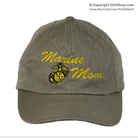 Cap: Marine Mom (Khaki with Yellow Embroidery)
