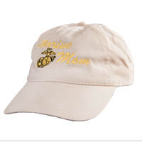 Cap: Marine Mom (embroidered on khaki)