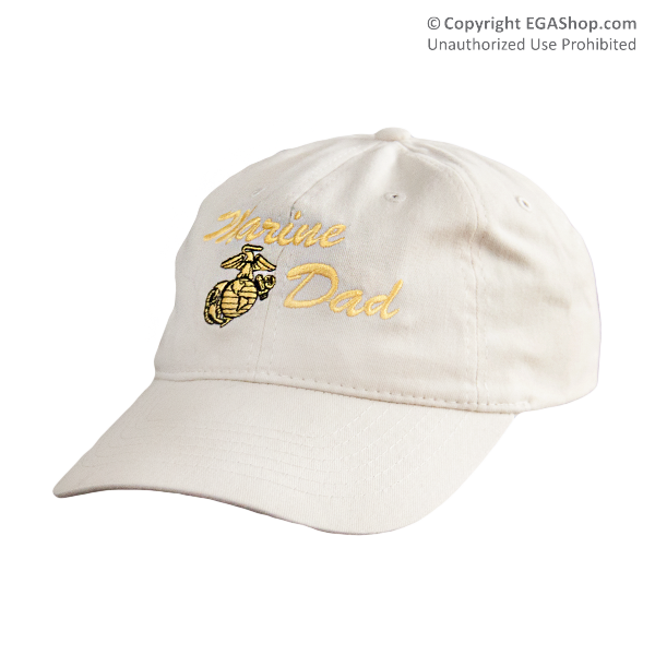 Cap: Marine Dad (embroidered on khaki)