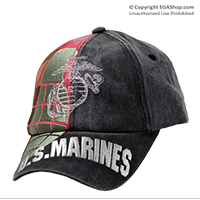 Cap: EGA and US Marines Grenade (embroidery)