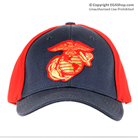 Cap: EGA (embroidered red on navy)