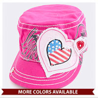 Hat: Patriotic Heart (Vintage)