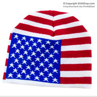 Knit Hat: American Flag (Likeness)