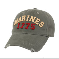 Cap: Marines 1775 (embroidery-felt on vintage)