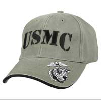 Cap: USMC Olive Drab with Eagle, Globe & Anchor