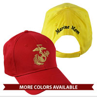 Cap, Custom Embroidered Back, EGA Front