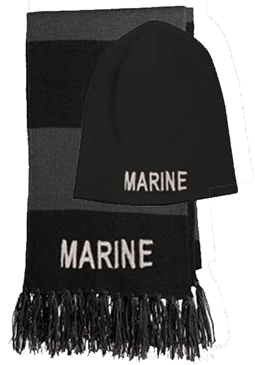 Knit Hat   Scarf  Black and Gray Knit Hat and Scarf b3d9c3985709