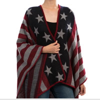Shawl Jacket, Knit: Stars and Stripes