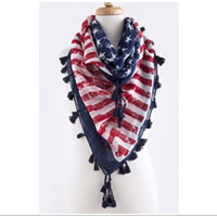 Scarf: Vintage Square with Tassel