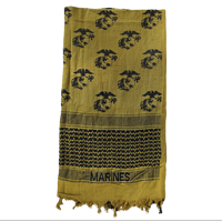 Scarf: Marine Corps Emboidered Olive Drab & Black