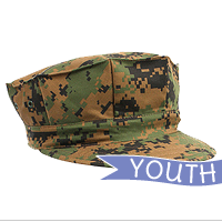 Cap: 8-Point Cover (YOUTH, camo woodland)