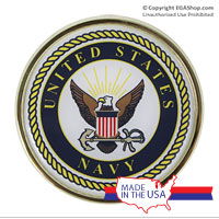 Auto Emblem: US Navy Seal, Chrome