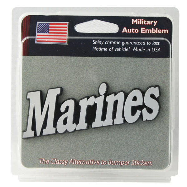 Auto Emblem: Marines (Chrome)