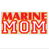 Decal, Marine Mom in Block Letters
