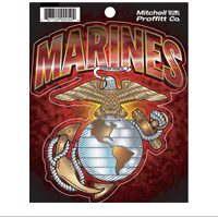 Decal: Marines with EGA (Sticker)