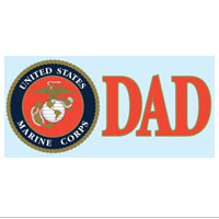 Decal, USMC Seal Dad