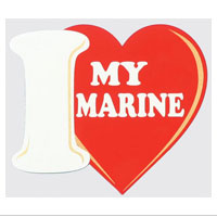 Z Decal, I (Heart) My Marine