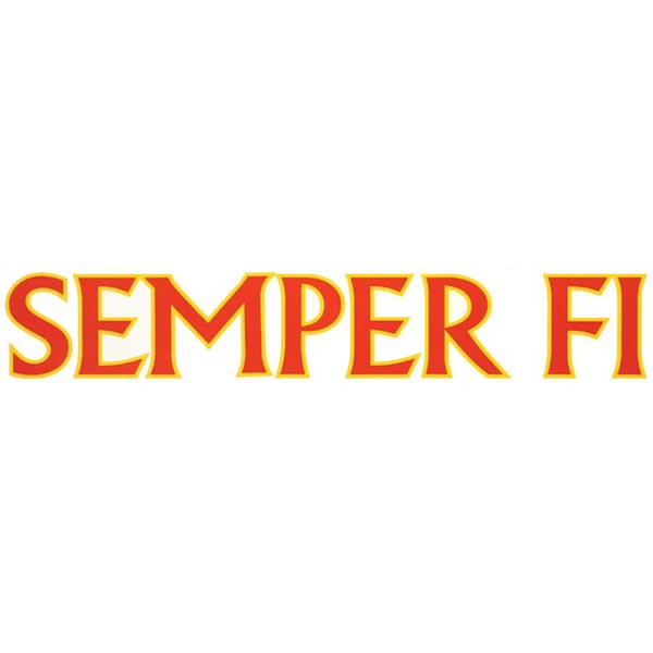 Vinyl Transfer: Semper Fi (Red/Yellow, 15 in.)