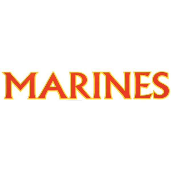 Vinyl Transfer: Marines (Red/Yellow, 15 in.)