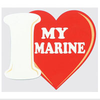 Decal, I (Heart) My Marine